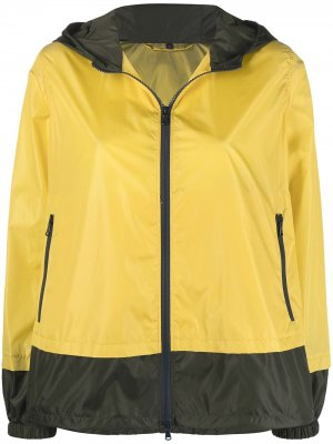 Куртка с капюшоном Fay. Цвет: желтый