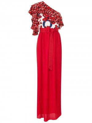 Платье макси Abalone Isolda. Цвет: красный