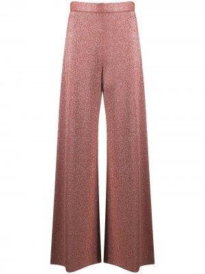 Широкие брюки с завышенной талией M Missoni. Цвет: красный