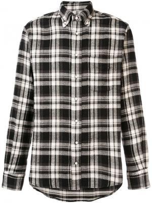 Рубашка в клетку Gitman Vintage. Цвет: черный