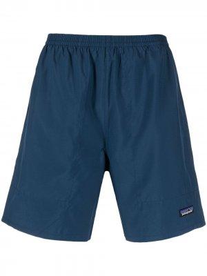 Плавки-шорты с нашивкой-логотипом Patagonia. Цвет: синий
