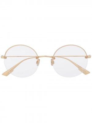Очки Stellaire 012 в круглой оправе Dior Eyewear. Цвет: золотистый