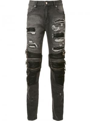Gods Masterful Children рваные джинсы кроя скинни God's. Цвет: черный