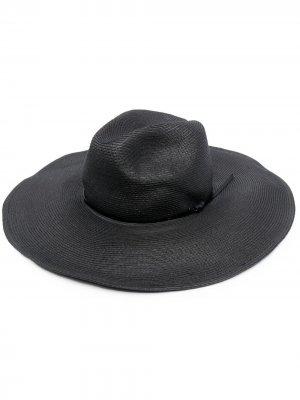 Плетеная шляпа P.A.R.O.S.H.. Цвет: черный
