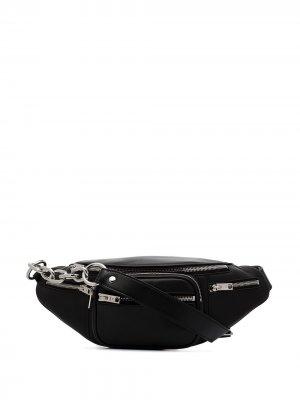 Поясная сумка Attica Alexander Wang. Цвет: черный