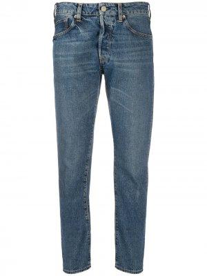 Укороченные джинсы Jolly Golden Goose. Цвет: синий