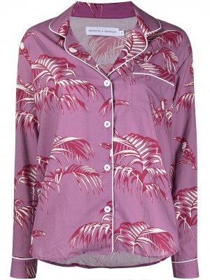 Пижама с цветочным принтом Desmond & Dempsey. Цвет: фиолетовый