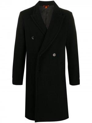 Двубортное пальто Barena. Цвет: черный
