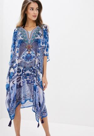 Платье пляжное Indiano Natural. Цвет: голубой