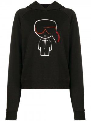 Худи Ikonik Karl Lagerfeld. Цвет: черный