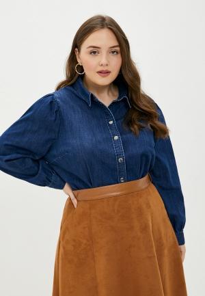 Рубашка джинсовая Only Carmakoma. Цвет: синий