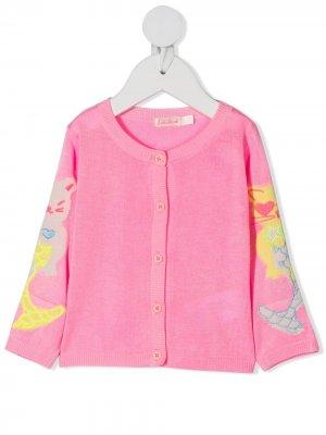 Кардиган с вышивкой Billieblush. Цвет: розовый