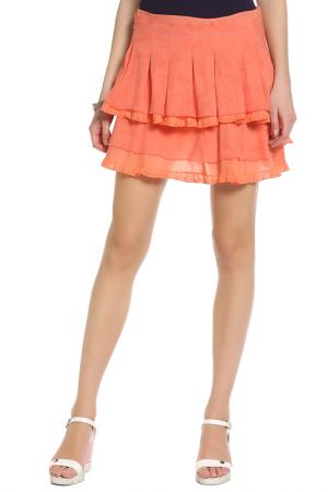 Юбка Parasuco Cult. Цвет: оранжевый