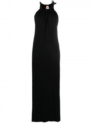Платье с вырезом халтер Nude. Цвет: черный