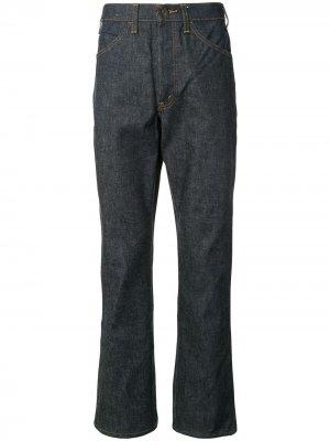 Fake Alpha X Levis Vintage расклешенные джинсы с контрастной строчкой Levi's. Цвет: синий