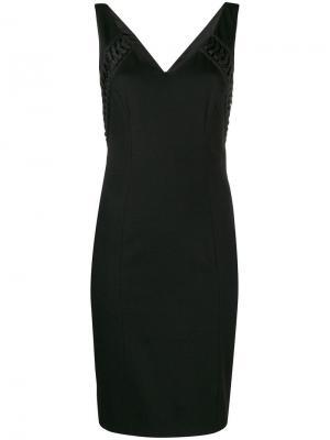 Платье мини без рукавов pre-owned Christian Dior. Цвет: черный