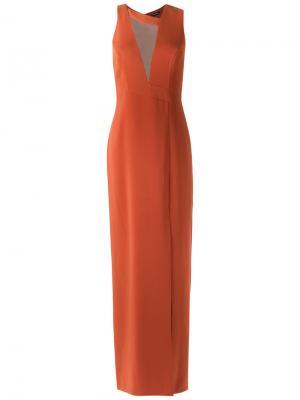 Front slit gown Tufi Duek. Цвет: желтый