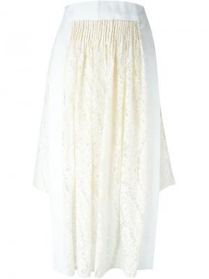 Асимметричная кружевная юбка Nº21. Цвет: нейтральные цвета