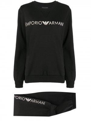 Спортивный костюм с логотипом Emporio Armani. Цвет: черный