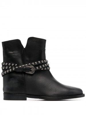 Ботинки Malibu с перекрестными ремешками Via Roma 15. Цвет: черный
