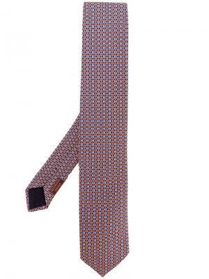 Галстук с логотипом Hermès Vintage. Цвет: синий