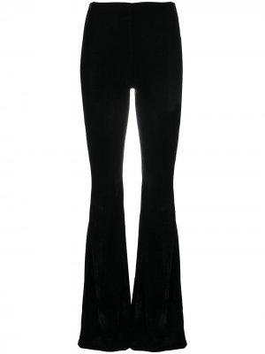 Расклешенные бархатные брюки Lia Alchemy. Цвет: черный