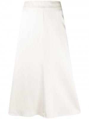 Расклешенная юбка миди Semicouture. Цвет: нейтральные цвета