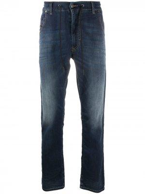 Прямые джинсы с кулиской Diesel. Цвет: синий