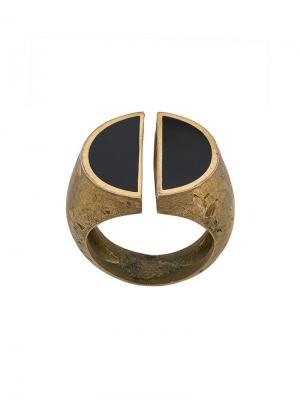 Перстень разделенного надвое дизайна Andrea D'amico. Цвет: золотистый