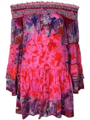 Платье бандо Tropic of Neon Camilla. Цвет: розовый
