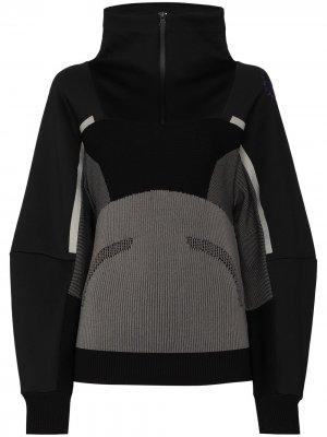 Спортивная толстовка в рубчик adidas by Stella McCartney. Цвет: черный