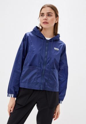 Куртка adidas Originals. Цвет: синий