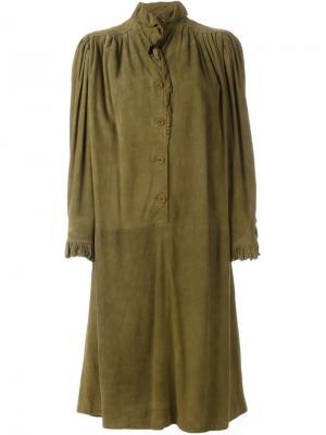 Платье с оборками Emanuel Ungaro Pre-Owned. Цвет: зеленый