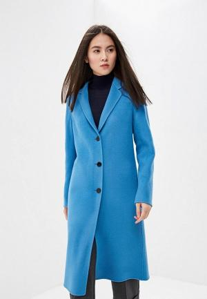 Пальто Theory. Цвет: голубой
