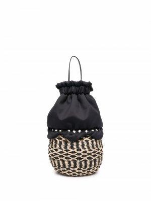 Пляжная сумка-корзина с кулиской Comme Des Garçons Tricot. Цвет: черный