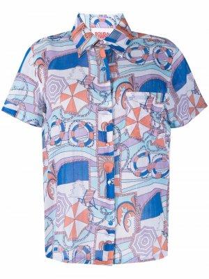 Рубашка  Cabana с принтом Solid & Striped. Цвет: синий