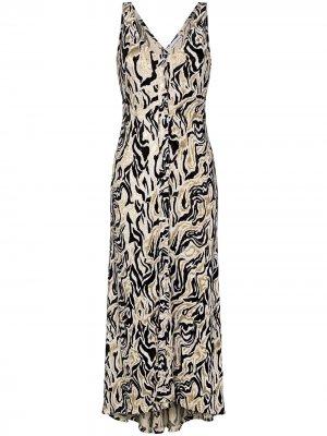 Платье макси с принтом Paco Rabanne. Цвет: разноцветный