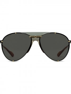 Солнцезащитные очки-авиаторы Gucci Eyewear. Цвет: серый