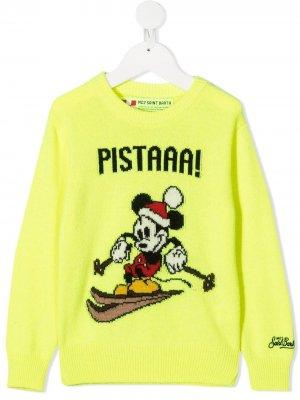 Джемпер Mickey Mouse с надписью Mc2 Saint Barth Kids. Цвет: желтый