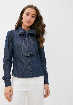Рубашка джинсовая Twist & Tango. Цвет: синий