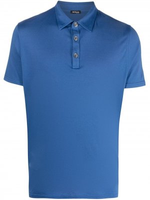Рубашка поло с короткими рукавами Kiton. Цвет: синий