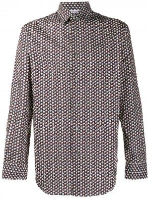 Рубашка с геометричным принтом Brioni. Цвет: серый