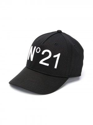 Кепка с вышитым логотипом Nº21 Kids. Цвет: черный