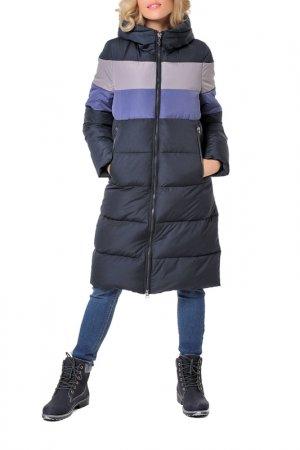 Пальто DizzyWay. Цвет: темно-синий