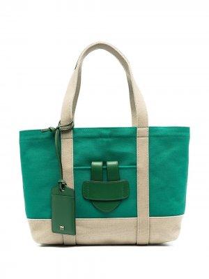 Маленькая сумка-тоут Simple Tila March. Цвет: зеленый