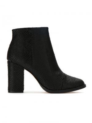 Leather textured ankle boots Osklen. Цвет: черный