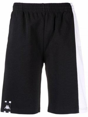 Спортивные шорты с лампасами Kappa. Цвет: черный