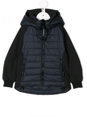Zipped padded jacket Cp Company Kids. Цвет: синий