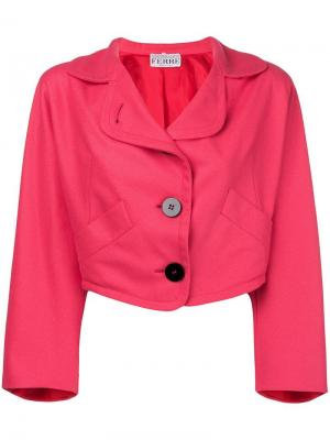 Укороченный пиджак оверсайз Gianfranco Ferré Pre-Owned. Цвет: розовый