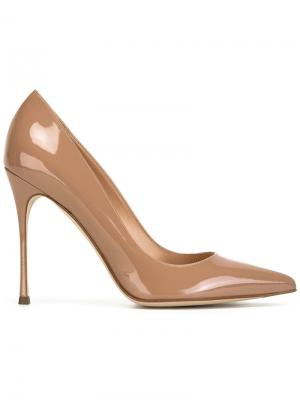 Туфли с заостренным носком Sergio Rossi. Цвет: розовый